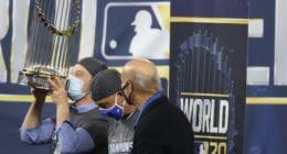 Andrew Friedman, Stan Kasten, Dave Roberts, 2020 World Series