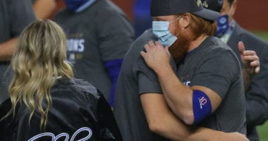 Justin Turner, Dodgers win, 2020 World Series