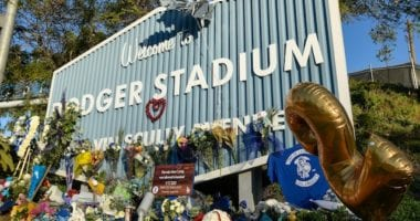Dodger Stadium sign, Tommy Lasorda memorial