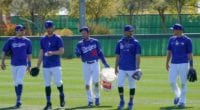 Matt Beaty, Cody Bellinger, Mookie Betts, AJ Pollock, 2021 Spring Training