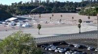 Dodger Stadium parking lot, coronavirus vaccine site