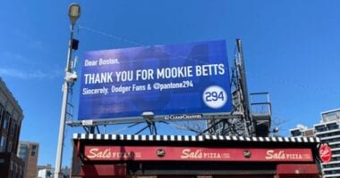 Mookie Betts billboard, Pantone 294