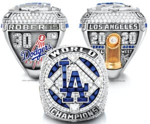 2020 Los Angeles Dodgers World Series ring