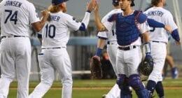 Austin Barnes, Kenley Jansen, Zach McKinstry, Justin Turner, Dodgers win