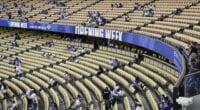 Dodgers fans, Dodger Stadium seats, Field level, Loge level, 2021 Opening Week