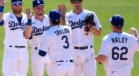 Gavin Lux, Luke Raley, Corey Seager, Chris Taylor, Justin Turner, Dodgers win