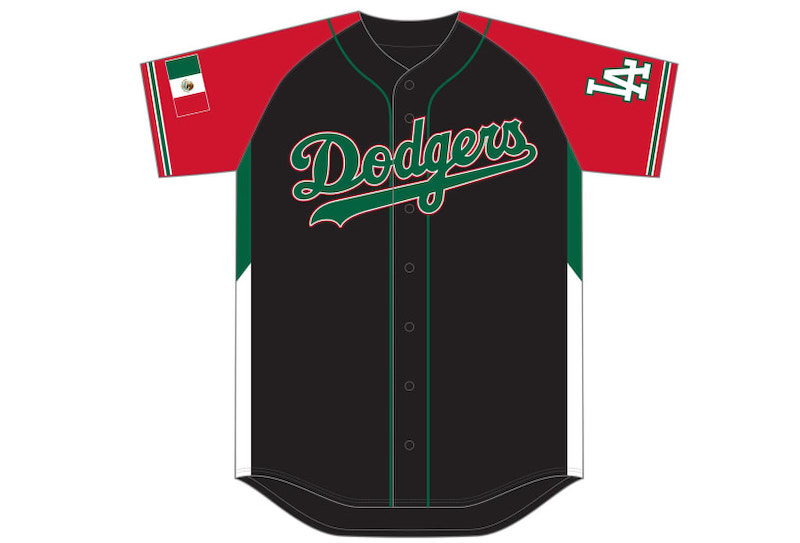 2021 Dodgers Mexican Heritage Night jersey