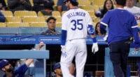 Cody Bellinger, Mookie Betts, Mark Prior, Dodgers trainer