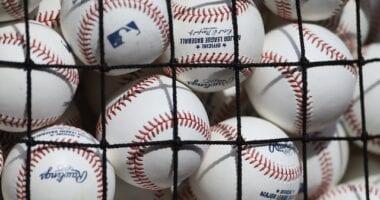 General view of baseballs