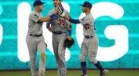 Matt Beaty, Cody Bellinger, Mookie Betts, Dodgers win